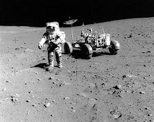 Astronaut David Scott on Moon with Apollo 15 Lunar Rover Photo Print for Sale