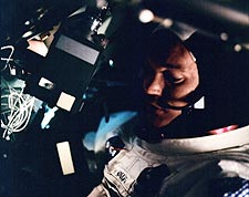 Astronaut Michael Collins in Apollo 11 CM Photo Print for Sale