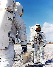 Astronauts Fred Haise, Jim Lovell Apollo 13 Photo Print for Sale