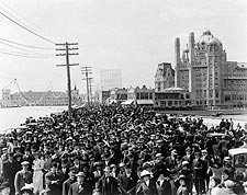 Atlantic City Beach Boardwalk Crowd NJ 1911 Photo Print for Sale