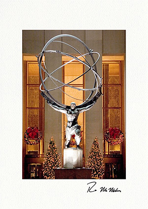 Atlas Rockefeller Center New York City Individual Christmas Cards