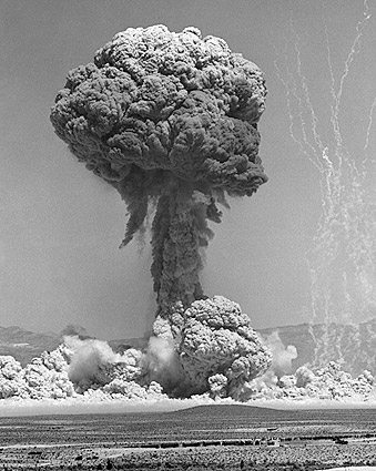 Atomic Bomb Testing at Nevada Test Site Photo Print