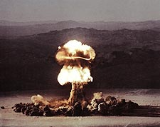 Atomic Bomb Testing Fireball Mushroom Cloud Photo Print for Sale