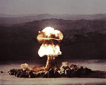 Atomic Bomb Testing Fireball Mushroom Cloud Photo Print