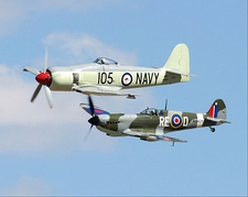 Australian Sea Fury & Spitfire Replica Photo Print