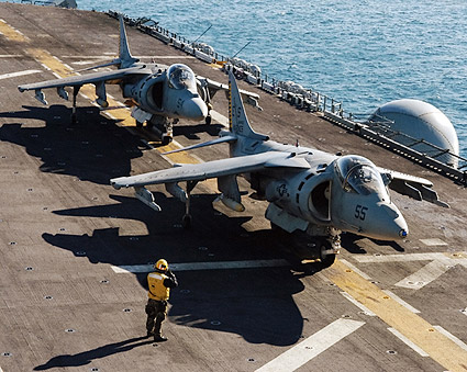 AV-8 / AV-8B Harrier Aboard USS Wasp Navy Photo Print