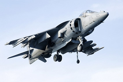 AV-8B / AV-8 Harrier Jump Jet Hovering Photo Print