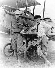Aviator Charles Lindbergh & Bud Gurney Photo Print for Sale