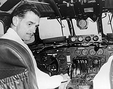Aviator Howard Hughes in Cockpit Photo Print for Sale