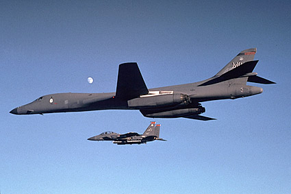 B-1 Bomber w/ F-15 Eagle Photo Print