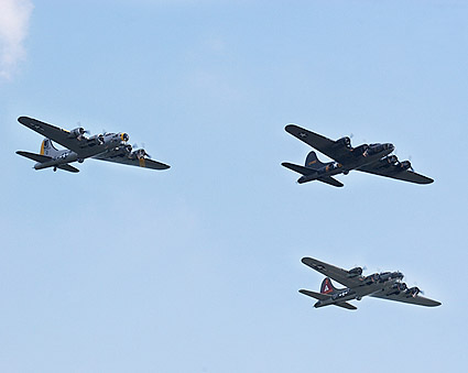 B-17 Flying Fortress WWII Bomber Trio Photo Print