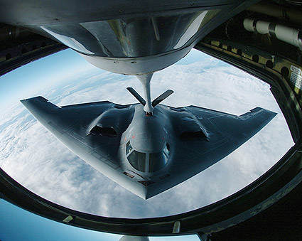 B-2 Spirit Bomber from KC-135 Stratotanker Photo Print
