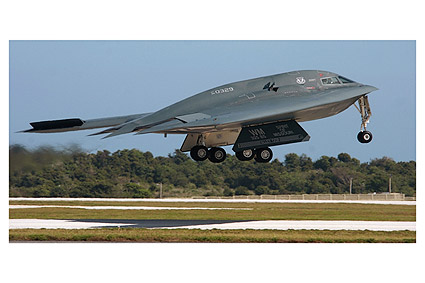 B-2 Spirit Stealth Bomber Taking Off Photo Print