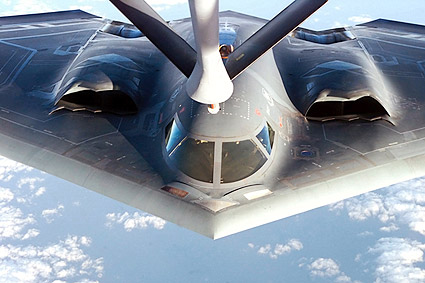 B-2 Stealth Bomber Refueling Photo Print
