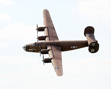 B-24 Liberator Bomber Diamond Lil Banking Photo Print