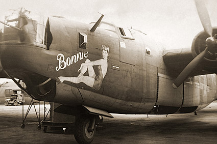B-24 Liberator Bomber Pin-up Nose Art WWII Aircraft Photo Print