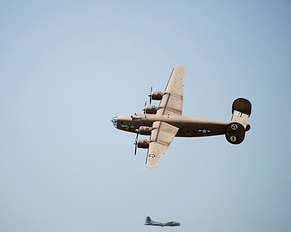 B-24 Liberator WWII Bomber Fly-By Photo Print