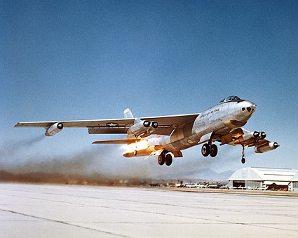 B-47 Stratojet Bomber Rocket Assist Takeoff Photo Print