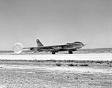 B-47 Stratojet Lands w/ Drag Chute Photo Print for Sale