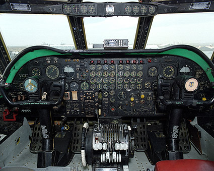 B-52 Cockpit Instrument Panel Photo Print