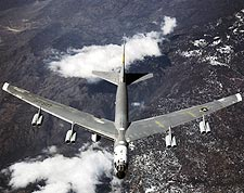 B-52 Mothership in Flight Photo Print for Sale