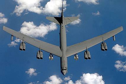 B-52 Stratofortress Overhead Flight Photo Print