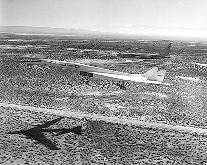 B-52 w/ XB-70 / XB-70A Final Approach Photo Print