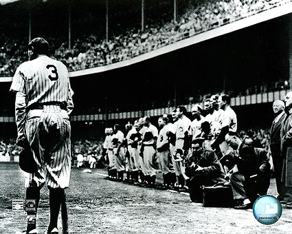 Babe Ruth Farewell NY Yankees Baseball Photo Print