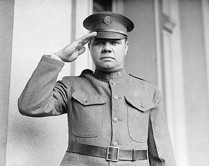 Babe Ruth in National Guard Uniform Photo Print