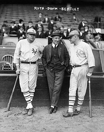 Babe Ruth, Jack Bentley & Jack Dunn Photo Print