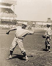 Babe Ruth Throwing Baseball N.Y. Yankees Photo Print for Sale
