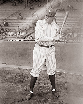 Babe Ruth w/ Bat New York Yankees Photo Print