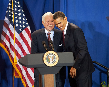 Barack Obama and Ted Kennedy at 2009 Event Photo Print