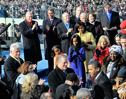 Barack Obama Arrival at Inauguration in 2009 Photo Print