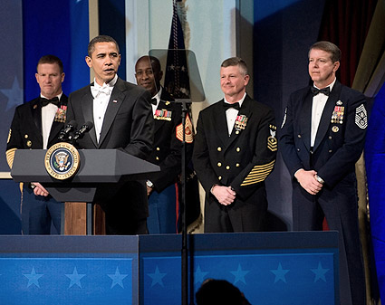 Barack Obama at Commander in Chief's Inaugural Ball Photo Print