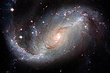 Barred Spiral Galaxy Hubble Space Telescope Photo Print for Sale