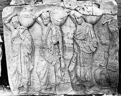 Bas-relief Ruins of Frieze Parthenon Greece Photo Print