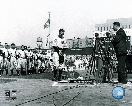 Baseball Player Lou Gehrig Farewell Speech Photo Print