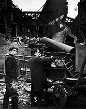 Battersea Incident Damage England WWII 1945 Photo Print for Sale