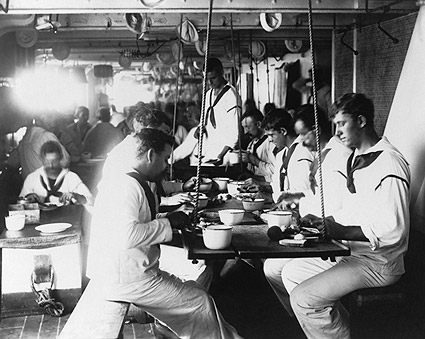Battleship USS Olympia Sailors in Mess Hall Photo Print