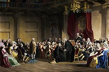 Benjamin Franklin & Lords Council Engraving Photo Print for Sale