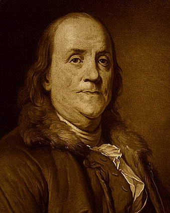 Benjamin Franklin Painting Wearing Fur Photo Print