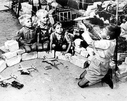 Berlin Airlift German Kids w/ Model Planes Photo Print