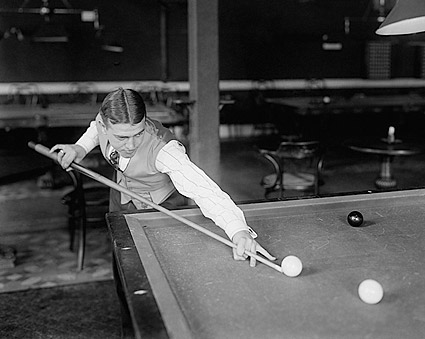 Billiard Willie Hoppe Playing Pool Photo Print