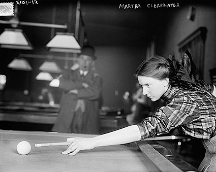 Billiards Champion Martha Clearwater 1910 Photo Print