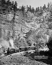 Black Hills Railroad Train Passengers 1890 Photo Print for Sale