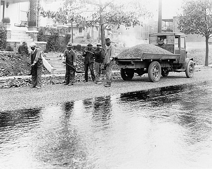 Black Men Paving Washington, D.C. Road Photo Print