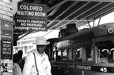 Black Segregation Bus Stop Civil Rights Photo Print for Sale