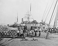 Black Slave Laborers Unloading Ships City Point, Virginia Photo Print for Sale