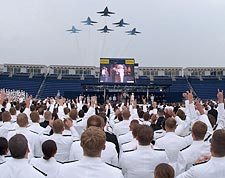Blue Angels at U.S. Naval Academy Graduation Photo Print for Sale
